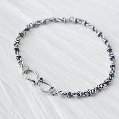 Minimalist Sterling Silver Chain Bracelet, Sterling Silver
