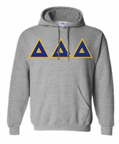 Delta Delta Delta Lettered Hooded Sweatshirt