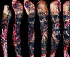 Tattoo Artist - Tomasz Tofi Torfinski - horror tattoo | www.worldtattoogallery.com