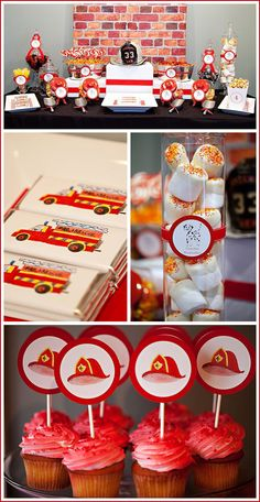 Mama's Style: Fireman Birthday Party by angela Fireman Party, Firefighter Birthday, Firefighter Baby Showers, 3rd Birthday Parties, Boy Birthday, Birthday Ideas, Cake Birthday, Daughter Birthday, Themed Parties