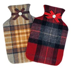 Snuggle up with a warm tartan covered water bottle.