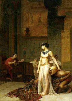 Jean-Leon Gerome(1824-1904)-ORİENTALİSM-(Cleopatra and Caesar_1866)