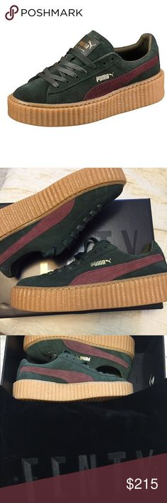 Puma Creepers Rihanna Fenty In the color green-Bordeaux. Never worn, brand new in original box. Comes with the dust bag as well. No trades. Cheaper offsite Puma Shoes Sneakers