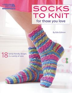 Socks to Knit for Those You Love - Want to warm your loved ones right down to their toes? Hand-knitted socks are the most thoughtful of gifts, and are always welcome! Renowned designer and instructor Edie Eckman offers these 18 styles for the family. Simple or fancy, they range from wee baby booties to roomy socks for men and toeless yoga socks. Techniques include lace, cables, slip stitch, and ribbing. The designs are standard cuff-down, French heel with gusset plus two toe-up designs that…