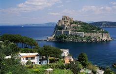 Ischia, the volcanic island that lies so beautifully in the northern end of the Gulf of Naples.