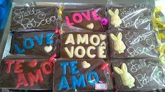 Barrinhas de chocolate, loja Delícia de Arte.