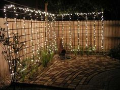 """Behind the """"outdoor room"""" present you one collection of AMAZING DIY Outdoor and Backyard Lighting Ideas for the Garden on how to brighten outdoor space beautifully. For more inspiration, see our posts on AMAZING DIY Front Yard Landscaping Ideas … Backyard Lighting, Outdoor Lighting, Outdoor Decor, Lights In Backyard, Outdoor Spaces, Garden Fairy Lights, Garden Lighting Ideas, Outside Lighting Ideas, Patio String Lights"""