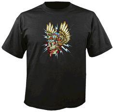 Bad Luck Clothing - Winged Racing Skull T-shirt, $13.95 (http://www.badluckclothing.com/winged-racing-skull-t-shirt/)
