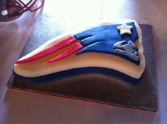 A Patriots grooms' cake!