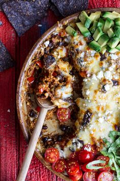 Cheesy Black Bean + Quinoa Taco Bake. - Half Baked Harvest