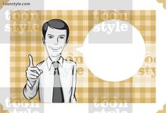 Greeting card with businessman pointing – personalize your card with a custom text