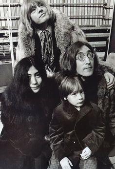 BRIAN JONES, YOKO ONO AND JOHN LENNON  image