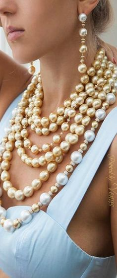 PEARLFECION Yoko London ♥✤ golden South Sea pearls
