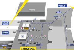 Plattegrond stationshal, Jaarbeurszijde en Jaarbeursplein Beeld: U-OV