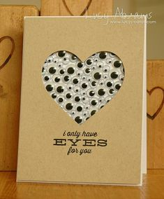 Heart of eyes card #love #card