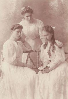 Countesses Catherine, Maria & Natalia von Carlow, grand daughters of Grand Duchess Catherine Mikhailovna who was a grandaughter of Tsar Paul I.