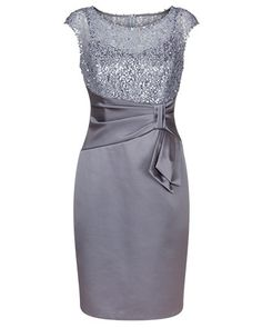 Haze Sequin Lace and Stretch Satin Dress