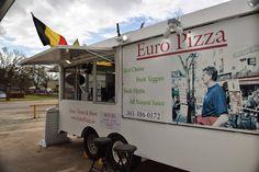 Euro Pizza food truck in Bastrop, Texas. #downtownbastroptx #visitlostpines #lunch #eatlocal #Bastrop #Texas #pizza #gyros #foodtruck