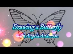 Drawing a Swallowtail Butterfly - Free Tutorial Lesson #LOVESUMMERART - YouTube
