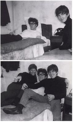 Beatles John Lennon, George Harrison and Ringo Starr in a hotel Foto Beatles, Beatles Funny, Beatles Love, Les Beatles, Beatles Photos, John Lennon Beatles, Beatles Poster, Ringo Starr, George Harrison