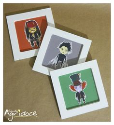 Jogo de quadrinhos para os fãs de Johnny Depp! Peças únicas!  www.facebook.com/estudioagridoce www.elo7.com/estudioagridoce