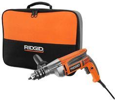 "Ridgid 1/2"" Drill Driver 8-Amp Corded Electric Power Tool Heavy Duty Reversible #Ridgid"
