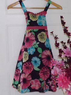 #Girlssundresses $8.25 Girls, Justice Black w/floral designs dress. Sz. 10 #Justice
