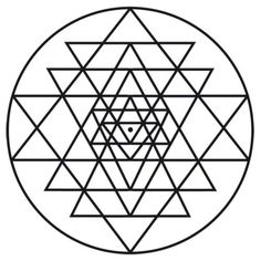 An Introduction to the Sri Yantra Mandala - Ashtar Command - Spiritual Community Network Buddhist Symbols, Ancient Symbols, Sri Yantra Tattoo, Sacred Geometry Triangle, Geometry Triangles, Shri Yantra, Muster Tattoos, Spiritus, Symbolic Tattoos