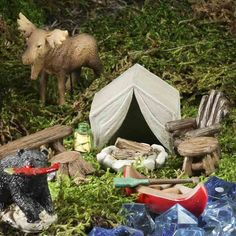 Mini Camping in the Woods -  Fairy Garden Miniatures