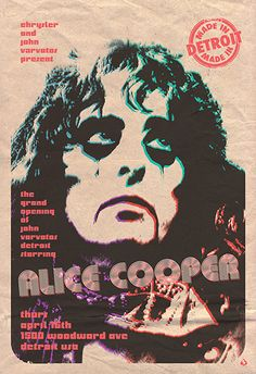 Poster for Alice Cooper by Scarlet Rowe.