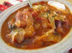 Füstölt kolbásszal és hússal, jó tejfölösen, kaporral és csomborral az igazi! :) Olyan igazi téli leves! Valóban egyszerű, de nagyszerű :) Ha vékonyabbra rántom akkor leveses,[...] Hungarian Cuisine, Hungarian Recipes, Veggie Soup, Yummy Food, Tasty, Sweet And Salty, Soups And Stews, Food Inspiration, Main Dishes