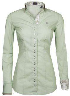 Long Sleeves ladies blouse by Fior Da Liso Shirt. This is a double collar button with a double cuff.