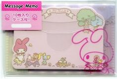 Sanrio My Melody Mini Die Cut Message Memo with Case #1 (M1302)