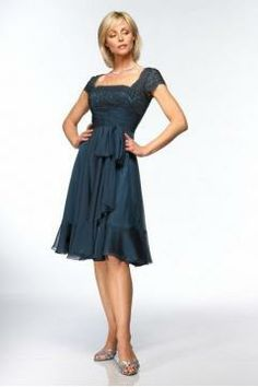 But in royal blue - Square Empire Waistline Zipper Mother of the Bride Dress