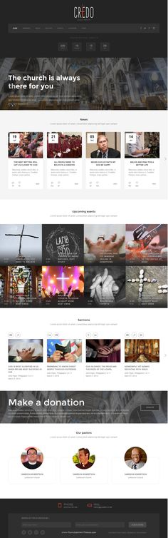 Credo a HTML template for church and #church events #website