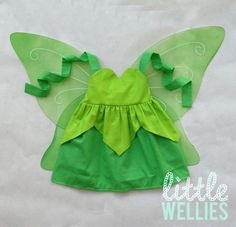 Tinker Bell Inspired Sweetheart Dress from Peter Pan Great Fairy Rescue Lost Treasure Tinkerbell Secret of the Wings -- girls costume. Maybe I can turn this into an apron minus the wings! Princess Aprons, Princess Outfits, Princess Clothes, Toddler Halloween Costumes, Girl Costumes, Halloween 2015, Tinkerbell Shoes, Dress Up Aprons, Winged Girl