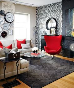 Bold modern living room | Living room grey, Modern living rooms and
