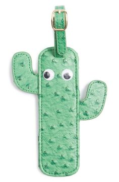 Cutest Luggage Tag. I need one badly too... :) Skinnydip Cactus Luggage Tag available at #Nordstrom