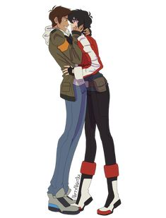 Little shorty has to stand on his tip toes in order to reach Lance's face. Very cute