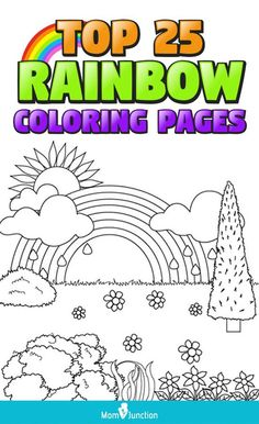 Here are the top ten options of rainbow pictures to color. You can download these coloring sheets for your small kids and spend more quality time