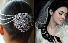 jeweled clips, decorative hair pins
