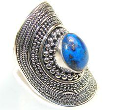 $47.25 Fantastic Lapis Lazuli Sterling Silver Ring s. 7 at www.SilverRushStyle.com #ring #handmade #jewelry #silver #lapislazuli