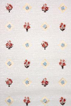 1950s kitchen vintage wallpaper floral #vintage wallpaper Hannah's Treasures