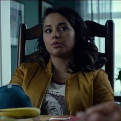 The yellow bomber jacket that Becky G. (Trini / The Yellow Ranger) wears in the movie Power Rangers (2017) #beckyg #powerrangers #powerrangersmovie