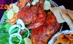 الدجاج التنودري الهندي مع الخضار بالفرن بطريقتي