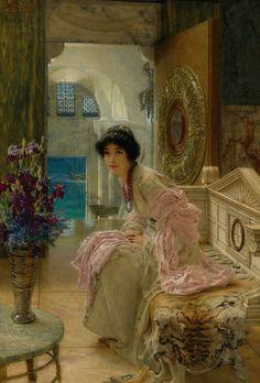 Sir Lawrence Alma-Tadema • (1836-1912) • Watching and Waiting