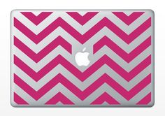 Chevron Vinyl Laptop Decal by threethirtysix on Etsy Macbook Decal, Macbook Case, Laptop Decal, Mac Decals, Vinyl Decals, Pink Laptop, Laptop Covers, Computer Cover, Yellow Chevron