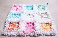 Quilted Rag Lovey Security Blanket Pink by SharleesQuiltCottage