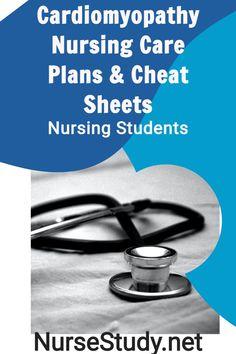 Cardiomyopathy NCLEX Study Guide Cheat Sheets Nursing Students Nursing Notes Nursing Care Plans Nursing Study Tips, Nursing Care Plan, Coronary Circulation, Heart Failure Symptoms, Nursing Cheat Sheet, Cardiac Catheterization, Nursing School Notes, Nursing Diagnosis, Thyroid Problems