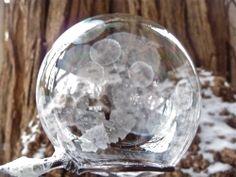Frozen Soap Bubbles